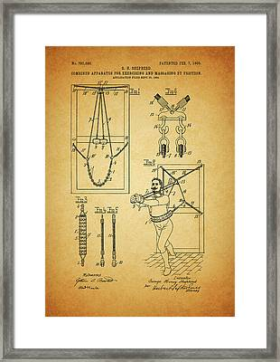 1905 Exercise Apparatus Patent Framed Print by Dan Sproul