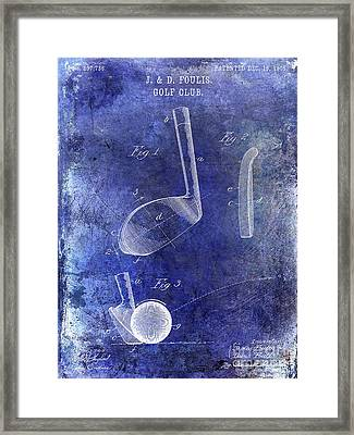 1905 Golf Patent Blue Framed Print by Jon Neidert
