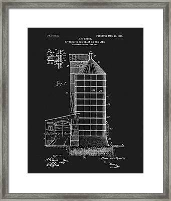 1905 Grain Silo Patent Framed Print