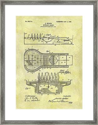 1906 Bowling Alley Patent Framed Print