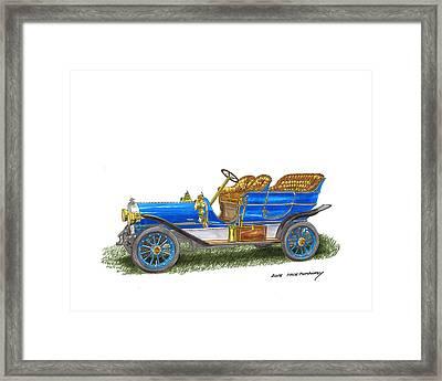 1906 Lambert Touring Model H Framed Print by Jack Pumphrey