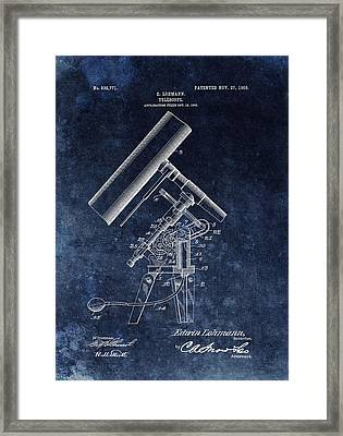 1906 Telescope Patent Framed Print by Dan Sproul