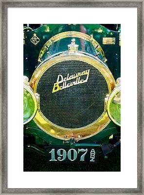 1907 Delaunay-belleville Phaeton Grille Emblem -0134c Framed Print by Jill Reger