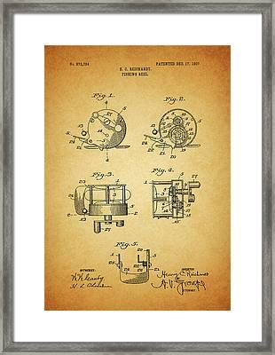 1907 Fishing Reel Patent Framed Print