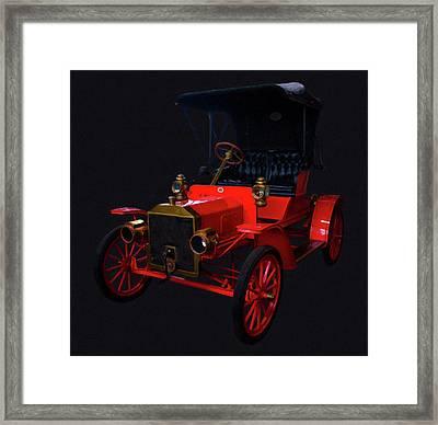 1907 Ford Model R Digital Oil Framed Print