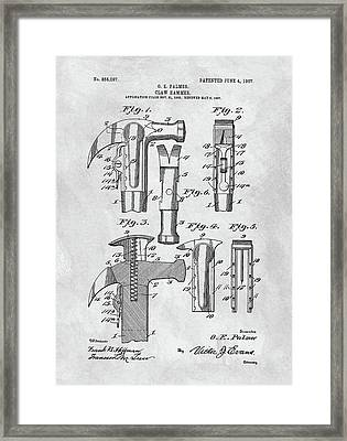 1907 Hammer Patent Framed Print by Dan Sproul