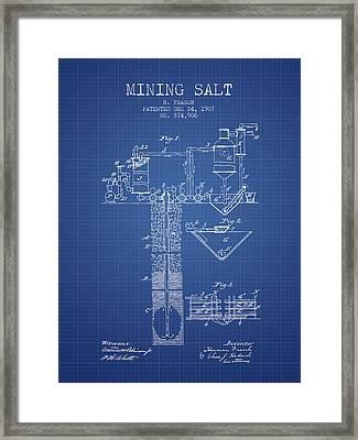 1907 Mining Salt Patent En36_bp Framed Print