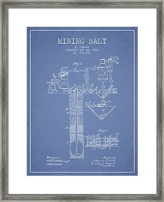 1907 Mining Salt Patent En36_lb Framed Print