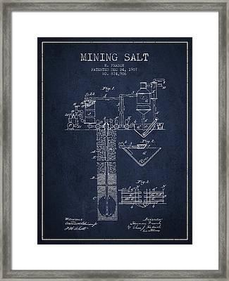 1907 Mining Salt Patent En36_nb Framed Print