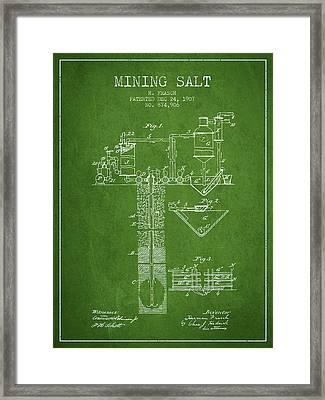 1907 Mining Salt Patent En36_pg Framed Print