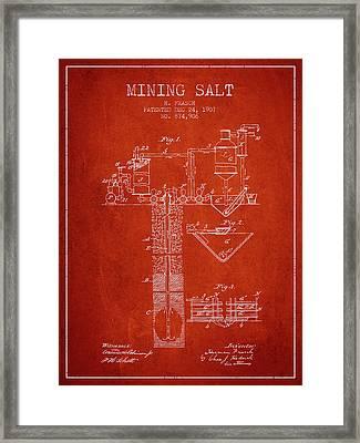 1907 Mining Salt Patent En36_vr Framed Print