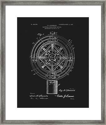 1907 Nautical Indicating Device Framed Print