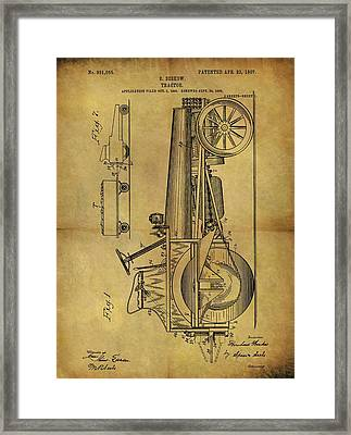 1907 Tractor Patent Framed Print by Dan Sproul