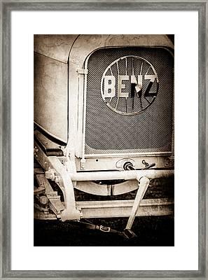1908 Benz Prince Heinrich Two Seat Race Car Grille Emblem -1696s Framed Print