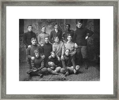 1908 Football Team Framed Print by Underwood Archives