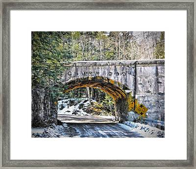 1909 Country Backroad Train Overpass Framed Print