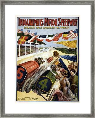 1909 Indy 500 Poster Framed Print by Jon Neidert