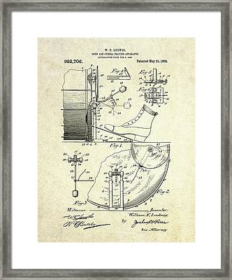 1909 Ludwig Drum And Cymbal Patent Framed Print by Gary Bodnar