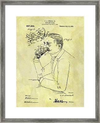1909 Mustache Guard Patent Framed Print