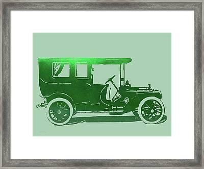 1909 Packard Limousine Green Pop Framed Print by David King