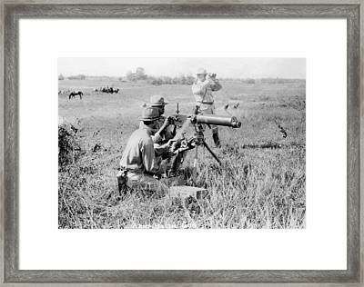 1909 Us Army Buffalo Soldiers In Philippines Framed Print