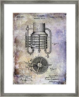 1909 Whiskey Still Patent Framed Print by Jon Neidert