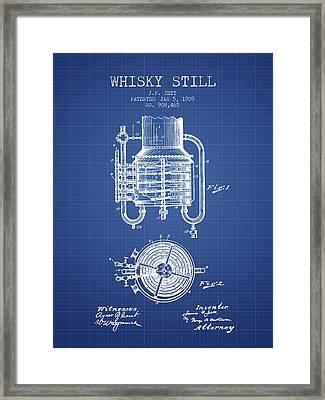 1909 Whisky Still Patent Fb78_bp Framed Print by Aged Pixel