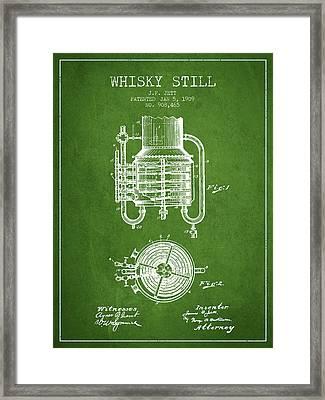 1909 Whisky Still Patent Fb78_pg Framed Print by Aged Pixel