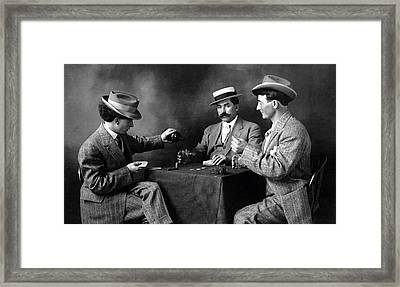 1910 Boys Night Out Framed Print by Historic Image
