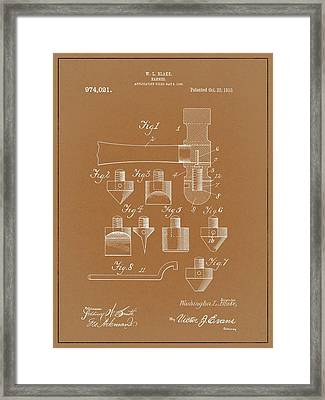 1910 Hammer Patent Framed Print by Dan Sproul
