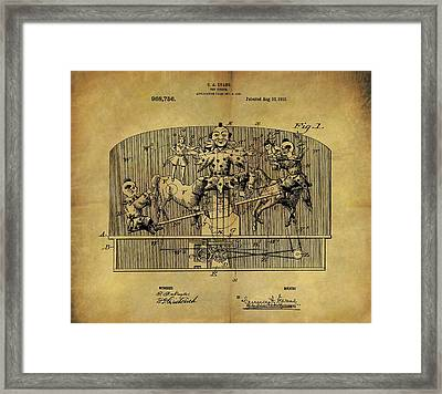 1910 Toy Circus Patent Framed Print by Dan Sproul