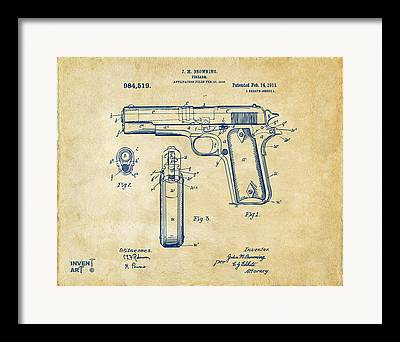 Colt 45 Framed Prints