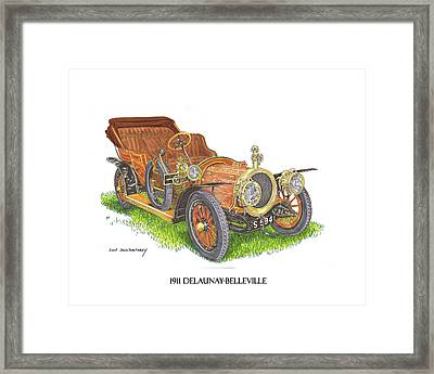 Framed Print featuring the painting 1911 Delaunay Belleville Open Tourer by Jack Pumphrey
