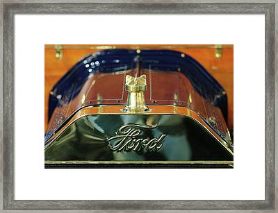 1911 Ford Model T Runabout Hood Ornament Framed Print by Jill Reger