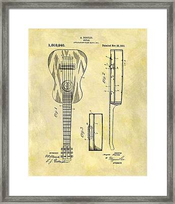 1911 Guitar Patent Framed Print