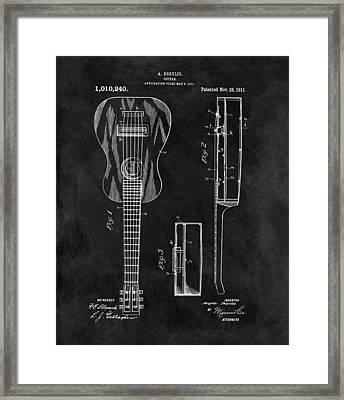 1911 Guitar Patent Illustration Framed Print