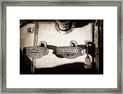 1911 Pope Hartford Model W Control Pedals -135s Framed Print by Jill Reger