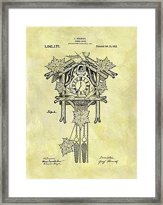 1912 Cuckoo Clock Patent Framed Print by Dan Sproul