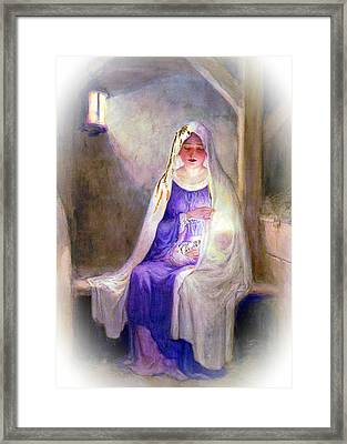 1912 Mary And Baby Jesus Framed Print by Munir Alawi