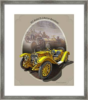 1912 Model 35-j Mercer Raceabout Framed Print by Roger Beltz