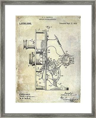 1912 Motion Picture Machine Patent Framed Print