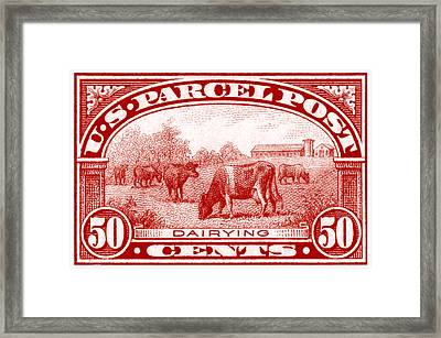 1913 Dairy Industry Stamp Framed Print by Historic Image