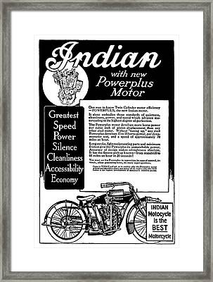 Framed Print featuring the digital art 1913 Indian Motorcycle Is The Best by Daniel Hagerman