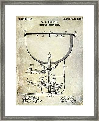 1913 Ludwig Drum Patent  Framed Print