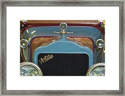 1913 White Gentlemans's Roadster Grille Framed Print
