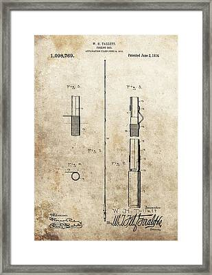 1914 Fishing Rod Patent Framed Print