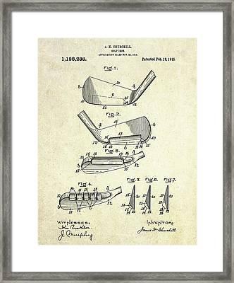 1914 Golf Iron Patent Art Framed Print