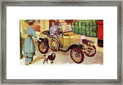 1914 Morris Oxford Framed Print by Peter Jackson