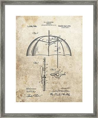 1914 Umbrella Patent Framed Print