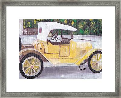 1915 Chevy Framed Print by David Poyant Paintings